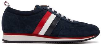 Thom Browne Low Top Suede And Calf Leather Trainers - Mens - Navy