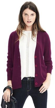 Italian Wool Cashmere Pocket Cardigan $110 thestylecure.com