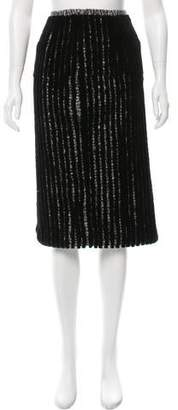 Brandon Sun Sheared Mink Tweed Skirt