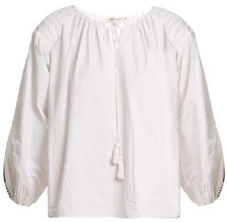 Mes Demoiselles Lords Of Underground Peasant Cotton Top - Womens - White