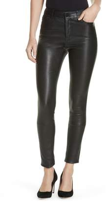 Theory Bristol Leather Skinny Pants