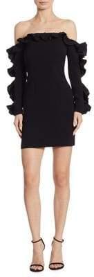 Cinq à Sept Rosemarie Ruffle Off-The-Shoulder Mini Dress