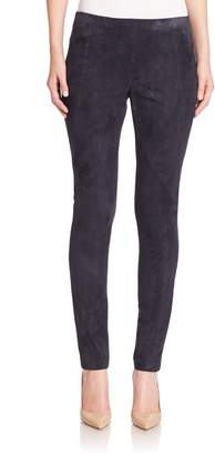 Lafayette 148 New York Punto Milano Suede-Front Riding Leggings