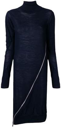 Sacai zip-detail sweater dress