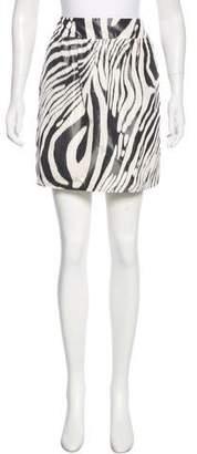 Derek Lam Zebra Print Mini Skirt