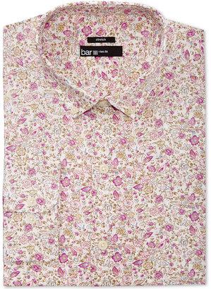 Bar Iii Men's Slim-Fit Stretch Easy Carel Print Dress Shirt, Created for Macy's $65 thestylecure.com