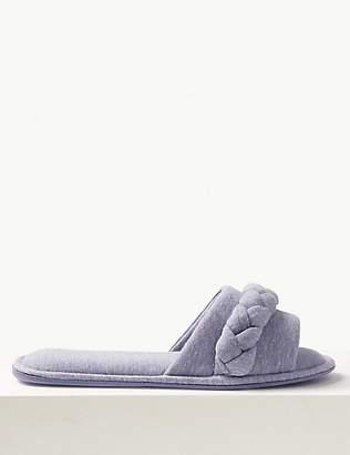 M&S Collection Plait Flattie Mule Slippers