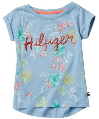 Tommy Hilfiger Palm Tree Tee (Little Girls)