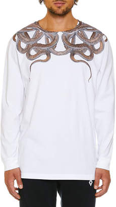 Marcelo Burlon County of Milan Men's Snakes Graphic Long-Sleeve T-Shirt