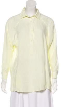 Loro Piana Linen Button-Up Blouse