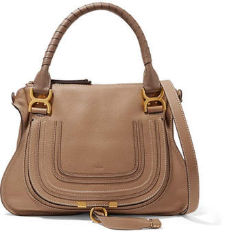 Chloé The Marcie Medium Textured-leather Tote - Brown