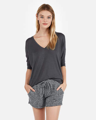 Express One Eleven Cozy Chenille Shorties