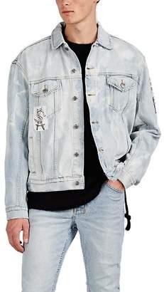 Ksubi Men's Oh G Appliquéd Bleached Cotton Denim Jacket