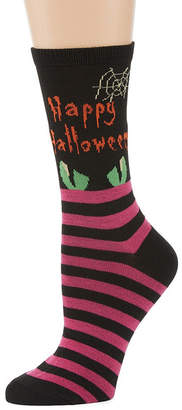 Asstd National Brand Halloween 1 Pair Crew Socks - Womens