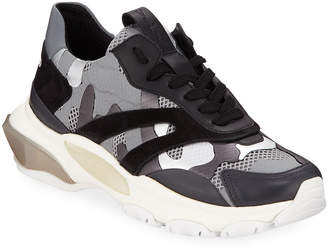 Valentino Bounce Camo Lace-Up Sneakers