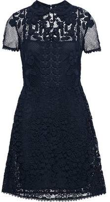 RED Valentino Cotton-Blend Corded Lace Mini Dress