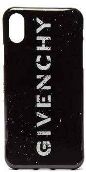 Givenchy Stencil Logo Iphone X Phone Case - Mens - Black