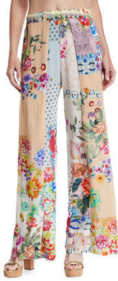 Johnny Was Dolce Dreamer Printed Coverup Pants