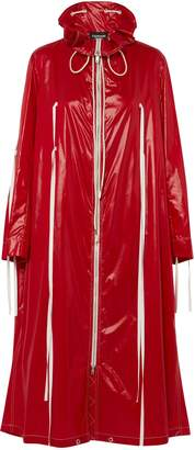 Calvin Klein Tie-detailed Coated-shell Raincoat