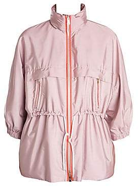 Prada Women's Contrast Detail Stand-Collar Drawstring Waist Jacket