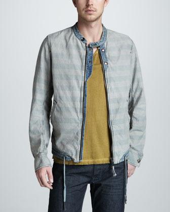 Diesel Meeby Striped Drawstring Jacket