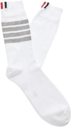 f560a4f62b80 Thom Browne Striped Mid-Weight Cotton Socks