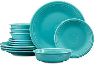 Fiesta 12-Pc. Turquoise Dinnerware Set, Service for 4