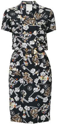 Chanel Pre-Owned CC logo short sleeve dress