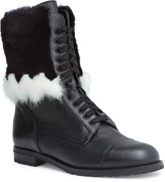 Manolo Blahnik Campcha 20 black mink boots