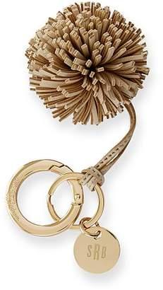 Leather Pompom Keychain