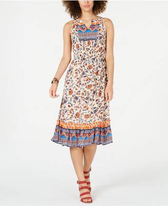 Style&Co. Style & Co Paisley Flower Midi Dress