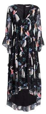 DAY Birger et Mikkelsen Borgo de Nor Iris Floral Ruffle Midi Dress