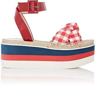 Gucci Women's Sefir Gingham Platform Sandals
