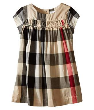 Burberry Check Dress w/ Ruched Panel (Infant/Toddler)