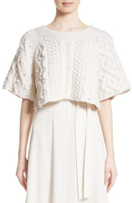 Women's Co Cable Knit Wool & Cashmere Crop Sweater $1,195 thestylecure.com