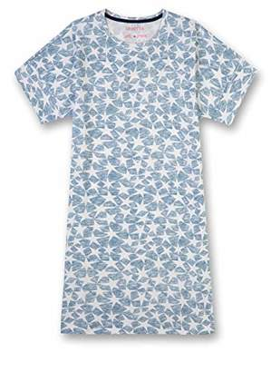 Sanetta Girl's Sleepshirt Short Allover Nightie, (Coronet Blue 50301)