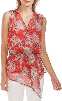 Vince Camuto Botanical Sleeveless Chiffon Top