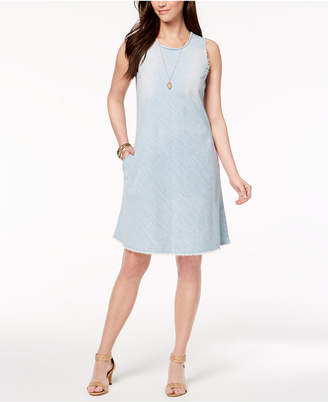 Style&Co. Style & Co Cotton Frayed-Hem Dress, Created for Macy's
