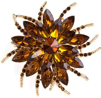 Goldenchen Fashion Jewelry Flower Brooch Pin for Women Brides Created Crystal Brooch