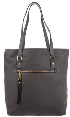 Marc Jacobs Large Leather-Trimmed Nylon Tote gold Large Leather-Trimmed Nylon Tote