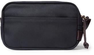 Filson Leather-Trimmed Cotton-Canvas Wash Bag - Navy