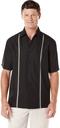 Cubavera Big & Tall Short Sleeve Insert Panels With Pickstitch Shirt