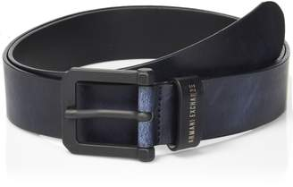 Armani Exchange A|X  Men's Brushed Leather Belt Accessory,