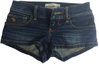 Abercrombie & Fitch Blue Denim Jeans Mini Shorts Size 8 Years Old Girl Kids