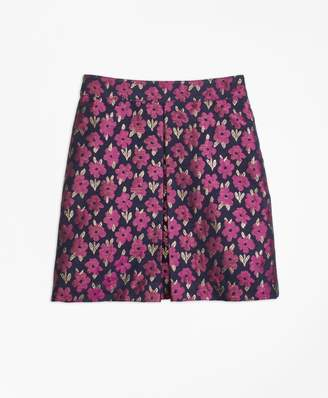 Brooks Brothers Floral Jacquard Skirt