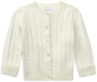 Ralph Lauren Girls' Cable-Knit Cardigan - Baby