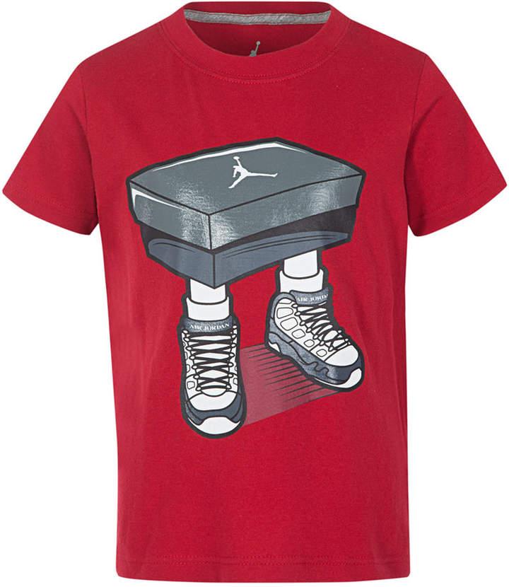 Box-Print Cotton T-Shirt, Little Boys