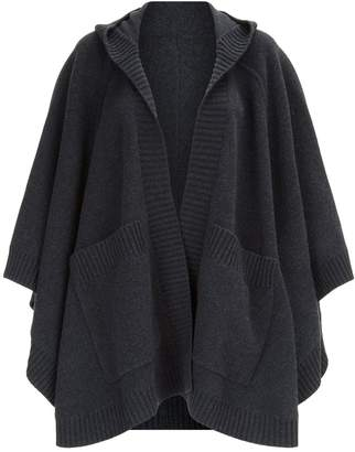 Burberry Crest Hooded Cape