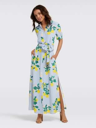 Draper James Collection Lemon Blossom Floral Maxi Dress