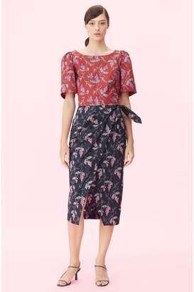 2b17910faee Rebecca Taylor Ivie Fleur Print Wrap Skirt
